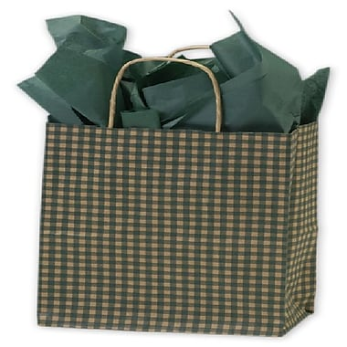 Bags & Bows® Gingham Printed Shoppers, 8-1/4