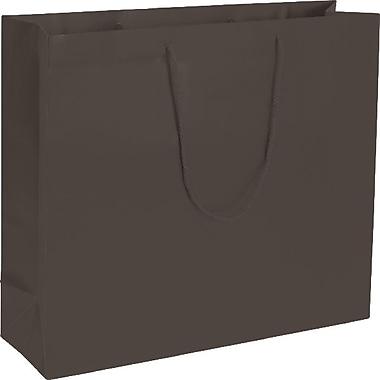 Bags & BowsMD – Sacs de magasinage euro mat, 20 x 6 x 16 (po), chocolat grande qualité, 50/paquet