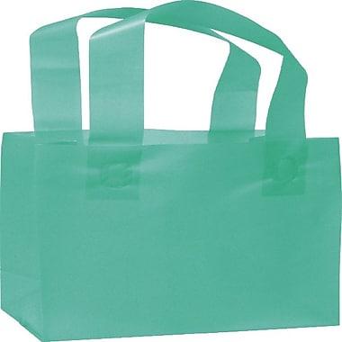 Bags & BowsMD – Sacs de magasinage glacés haute densité, 6 1/2 x 3 1/2 x 6 1/2 (po), bleu sarcelle, 250/paquet