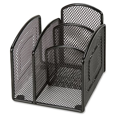 Lorell 4-Compartment Steel Mesh Desk Valet, 4-1/2