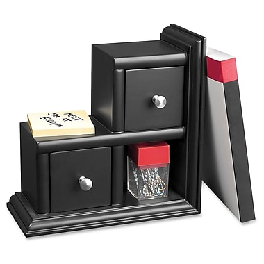 Victor 2-Drawer Bookend, Black