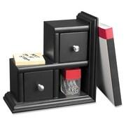 Victor - Appui-livres à 2 tiroirs, noir