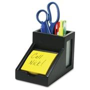 Victor – Porte-crayons avec compartiment pour bloc-notes, 4 1/2 haut. x 4 larg. x 6 5/16 prof. (po), noir
