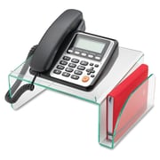 Lorell Telephone Stand, Clear Green