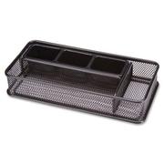 "Lorell 5-Compartment Steel Mesh Desk Drawer Organizer, 2""(H) x 10-3/10""(W) x 5""(D), Black"