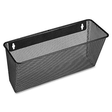Lorell Wall Mountable Black Mesh/Wire Wall Pocket, 6-3/5