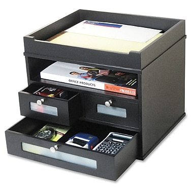 Victor Midnight Black Tidy Tower Organizer, 10-9/10