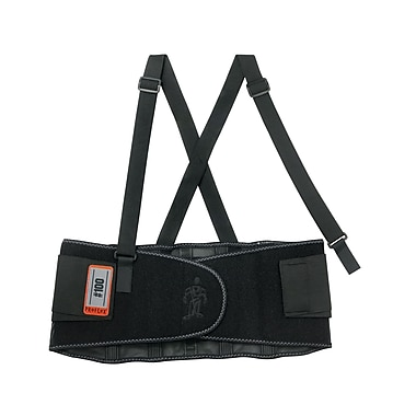 Ergodyne ProFlex® 100 Economy Elastic Back Support, Medium, Adjustable Two Stage, Black