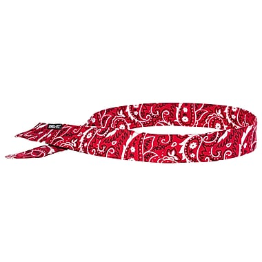 Ergodyne® Chill-Its® 6705 Evaporative Cooling Bandana, Red Western