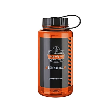 Ergodyne® Chill-Its® 1 Liter Wide Mouth Plastic Water Bottles