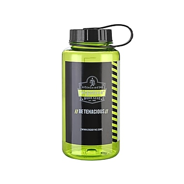 Ergodyne® Chill-Its® 1 Liter Wide Mouth Plastic Water Bottle, Lime