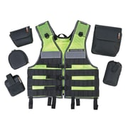 Ergodyne® Arsenal® 5590 Industry Molle Vest Miners Set, One Size, Lime
