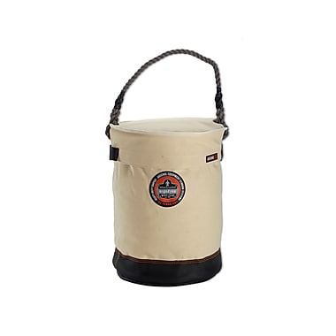 Ergodyne® Arsenal® Leather Bottom Bucket With Top, White, 17