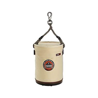 Ergodyne® Arsenal® Plastic Bottom Bucket With Swivel Handle and Top, White, Small