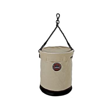Ergodyne® Arsenal® Leather Bottom Bucket With Swivel Handle and Top, White, XL