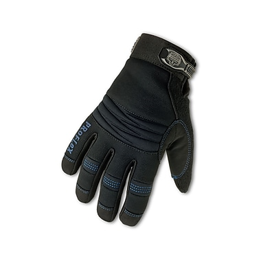 Ergodyne® ProFlex® 817 Synthetic Leather Thermal Waterproof Utility Gloves, Black, Medium