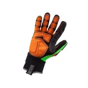 Ergodyne® ProFlex® 925F PVC Dorsal Impact-Reducing Gloves, Lime, Large