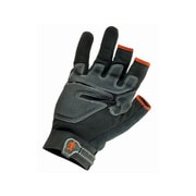 Ergodyne® ProFlex® 720 Synthetic Leather/PVC Trades Gloves With Touch Control, Black, Large
