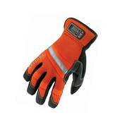 Ergodyne® ProFlex® 875 PVC Hi-Visibility Gauntlet Trades Gloves, Orange, Large