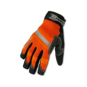 Ergodyne® ProFlex® 876 Synthetic Leather/PVC Hi-Visibility Thermal Waterproof Gloves, Orange, Small