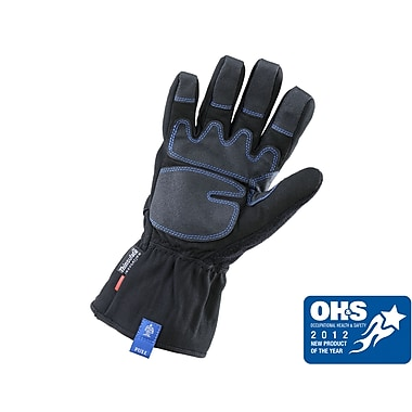 Ergyne® ProFlex® 819 PVC Thermal Gauntlet Gloves With Outdry, Black, Large