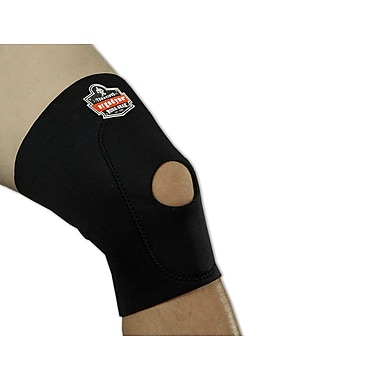 Ergodyne® ProFlex® Knee Sleeve With Open Patella/Anterior Pad, Black, Small