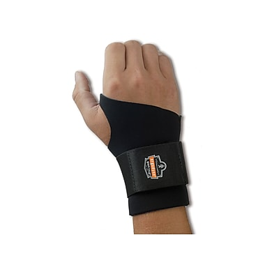 Ergodyne® ProFlex® 670 Ambidextrous Black Single Strap Wrist Supports