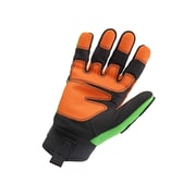 Ergodyne® ProFlex® 924 Light Dorsal Impact-Reducing PVC Gloves, Lime, 3XL