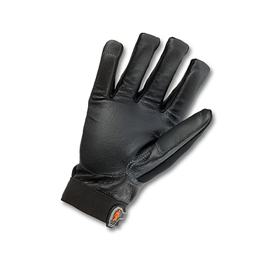 Ergodyne® ProFlex® Pigskin Leather Certified Anti-Vibration Gloves, Black, Small