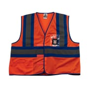 Ergodyne® GloWear® 8126HL Class 1 Hi-Visibility Blue-Tone Vest, Orange, 4XL/5XL