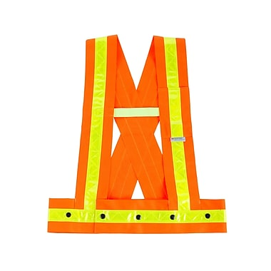 Ergodyne® GloWear® 8140HG Class 1 Orange Hi-Visibility Sashes
