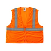 Ergodyne® GloWear® 8205Z Class 2 Hi-Visibility Super Economy Vest, Orange, Small/Medium