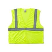 Ergodyne GloWear® Class 2 Economy Vest; Polyester Mesh, 2XL/3XL Size, Hook & Loop, Lime