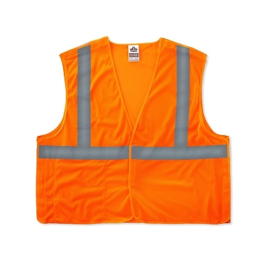 Ergodyne® GloWear® 8215BA Orange Class 2 Hi-Visibility Economy Breakaway Vests