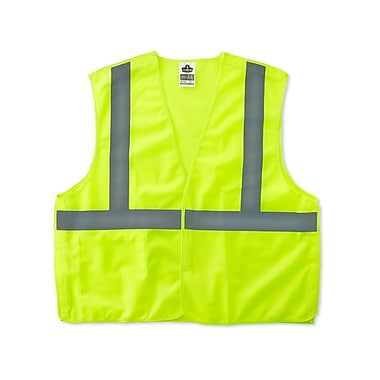 Ergodyne® GloWear® 8215BA Class 2 Hi-Visibility Economy Breakaway Vest, Lime, Small/Medium