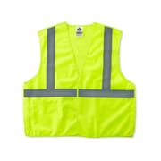 Ergodyne® GloWear® 8215BA Class 2 Hi-Visibility Economy Breakaway Vest, Lime, Small/Medium