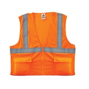 Ergodyne® GloWear® 8220Z Class 2 Hi-Visibility Standard Vest, Orange, Large/XL