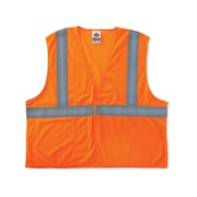 Ergodyne® GloWear® 8220HL Class 2 Hi-Visibility Standard Vest, Orange, Small/Medium