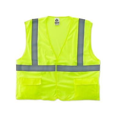 Ergodyne® GloWear® 8220HL Class 2 Hi-Visibility Standard Vest, Lime, 2XL/3XL