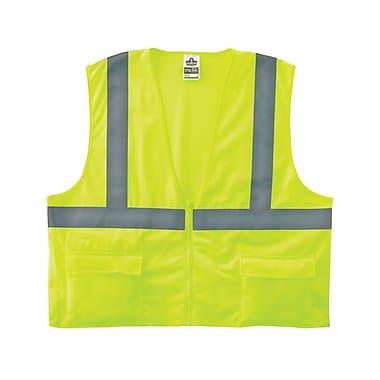 Ergodyne® GloWear® 8225Z Class 2 Hi-Visibility Standard Vest, Lime, 4XL/5XL
