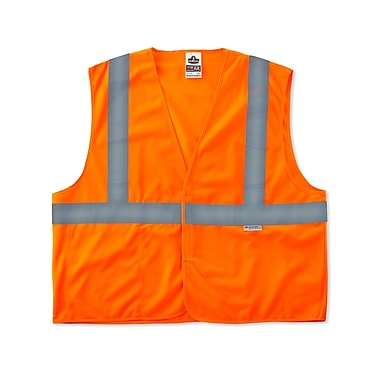 Ergodyne® GloWear® 8225HL Orange Class 2 Hi-Visibility Standard Vests