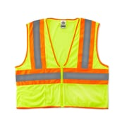 Ergodyne® GloWear® 8229Z Class 2 Hi-Visibility Economy Two-Tone Vest, Lime, Small/Medium