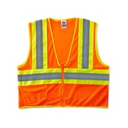 Ergodyne® GloWear® 8229Z Class 2 Hi-Visibility Economy Two-Tone Vest, Orange, Small/Medium
