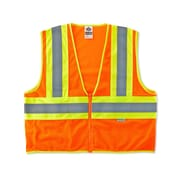 Ergodyne® GloWear® 8230Z Class 2 Hi-Visibility Two-Tone Vest, Orange, Small/Medium