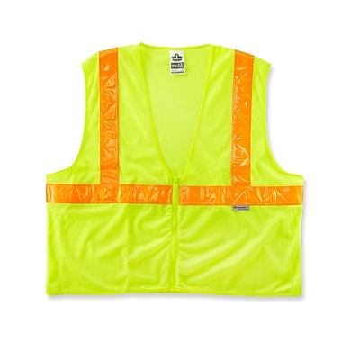 Ergodyne® GloWear® 8220ZHG Lime Class 2 Hi-Visibility Standard Hi-Gloss Vests