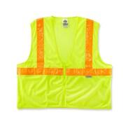Ergodyne® GloWear® 8220ZHG Class 2 Hi-Visibility Standard Hi-Gloss Vest, Lime, 2XL/3XL