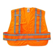 Ergodyne® GloWear® 8244 Expandable Public Safety Vest, Orange, 3XL+