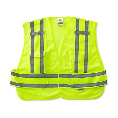 Ergodyne® GloWear® 8244 Expandable Public Safety Vest, Lime, XL/2XL