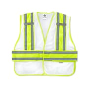 Ergodyne® GloWear® 8240HL Class 2 Hi-Visibility Two-Tone Expandable Vest, White, Medium/Large