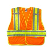 Ergodyne® GloWear® 8240HL Class 2 Hi-Visibility Two-Tone Expandable Vest, Orange, Medium/Large